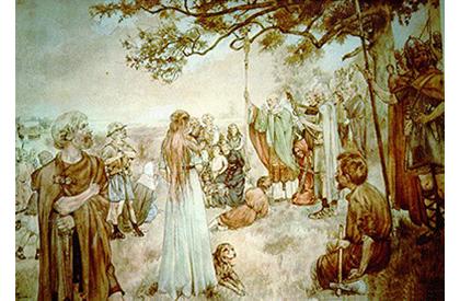 Ludger preekt in de Groninger Gouwen